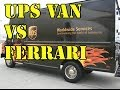 UPS van delivering Surface Pro 3 embarrases Ferrari on the track