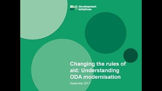 Changing the rules of aid: Understanding ODA modernisation