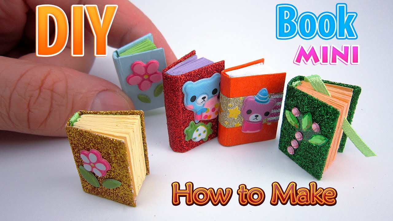How To Make A Removable Book Cover ~ Diy miniature book dollhouse no polymer clay youtube
