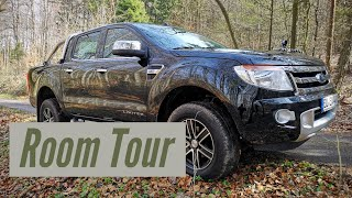 Room Tour - Ford Ranger 3.2l limited Expeditionsmobil in Arbeit