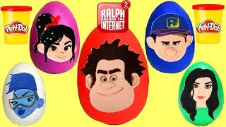 Disney RALPH BREAKS THE INTERNET Play-doh EGG Surprises with Vanellope & Fix it Felix