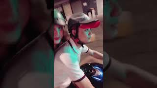 Bảo Hello dạo phố đi bộ bằng moto s1000rr cùng Vk mai Cute