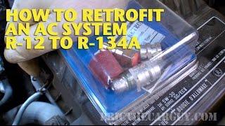 كيفية التحديثية AC نظام R-12 أو R-134a -EricTheCarGuy
