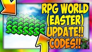 NEW CODES [🐰EASTER🥚] RPG World (Roblox)
