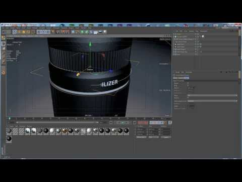 Tutorial: Canon EFS 55-250mm Zoom Lens: Part 4, Texturing in Cinema 4D