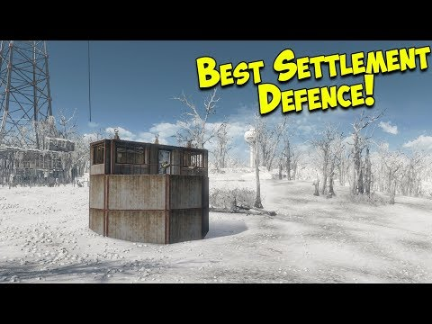 Fallout 4 - Best Settlement Defence   Bunker
