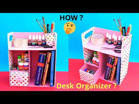 DIY Desk Organizer   Best out of waste   Space Saving Craft idea
