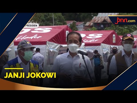 Janji Jokowi saat Tinjau Korban Gempa di Sulbar