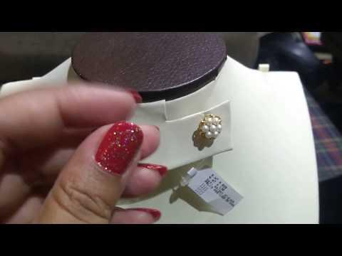 #jagdambapearls #lightweight #goldjewelry pearl ear studs\earrings with price & weight| order online