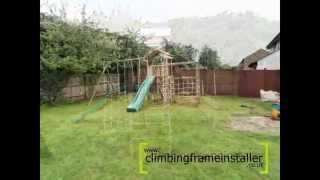 Action Monmouth Wooden Climbing Frame With Monkey Bar Set, Climbing Frame Installer