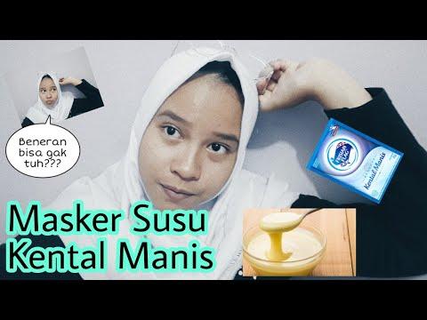 MASKER PEMUTIH WAJAH 😲 !!! -Dengan Susu Kental Manis 🤔🤔