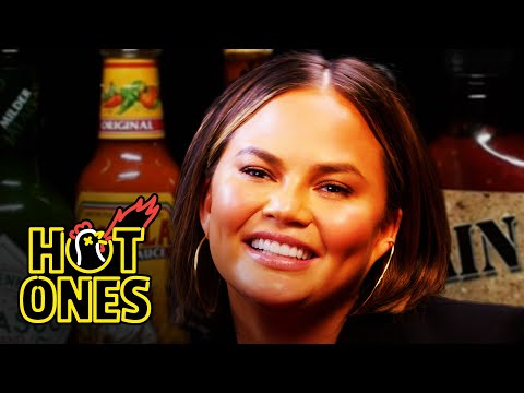 Chrissy Teigen Gets Drunk on Spicy Wings | Hot Ones