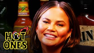 Download Chrissy Teigen Gets Drunk on Spicy Wings | Hot Ones Mp3 and Videos