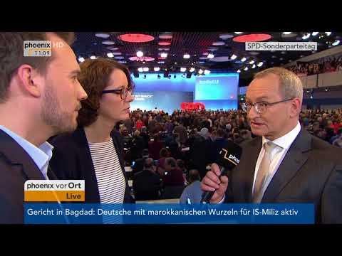 Sabine Müller und Jan Drebes beim SPD-Parteitag am 21.01.2018