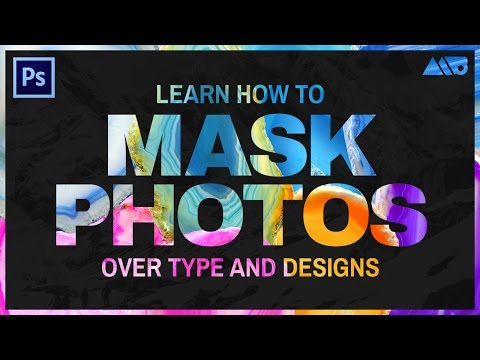 Learn How to Mask Photos Over Type and Designs in Adobe Photoshop Tutorial