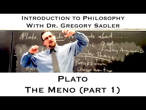 Plato's Dialogue, The Meno (part 1) - Introduction To Philosophy