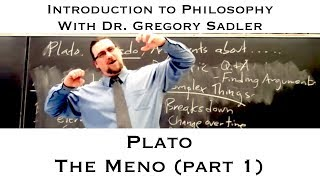 Intro to Philosophy:  Plato, Meno (part 1)