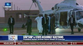 President Buhari Arrives Daura Ahead Of Poll