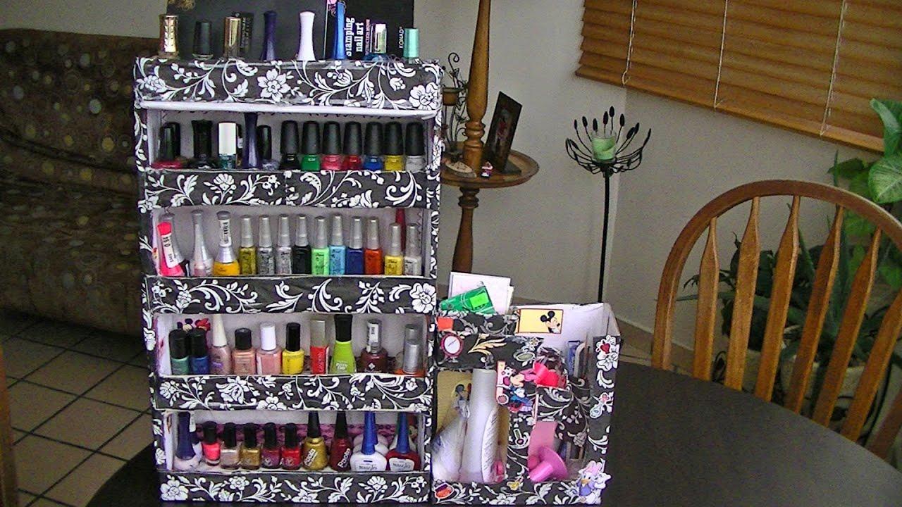 Hacer Un Organizador De Baño:como hacer un organizador para esmaltes – YouTube