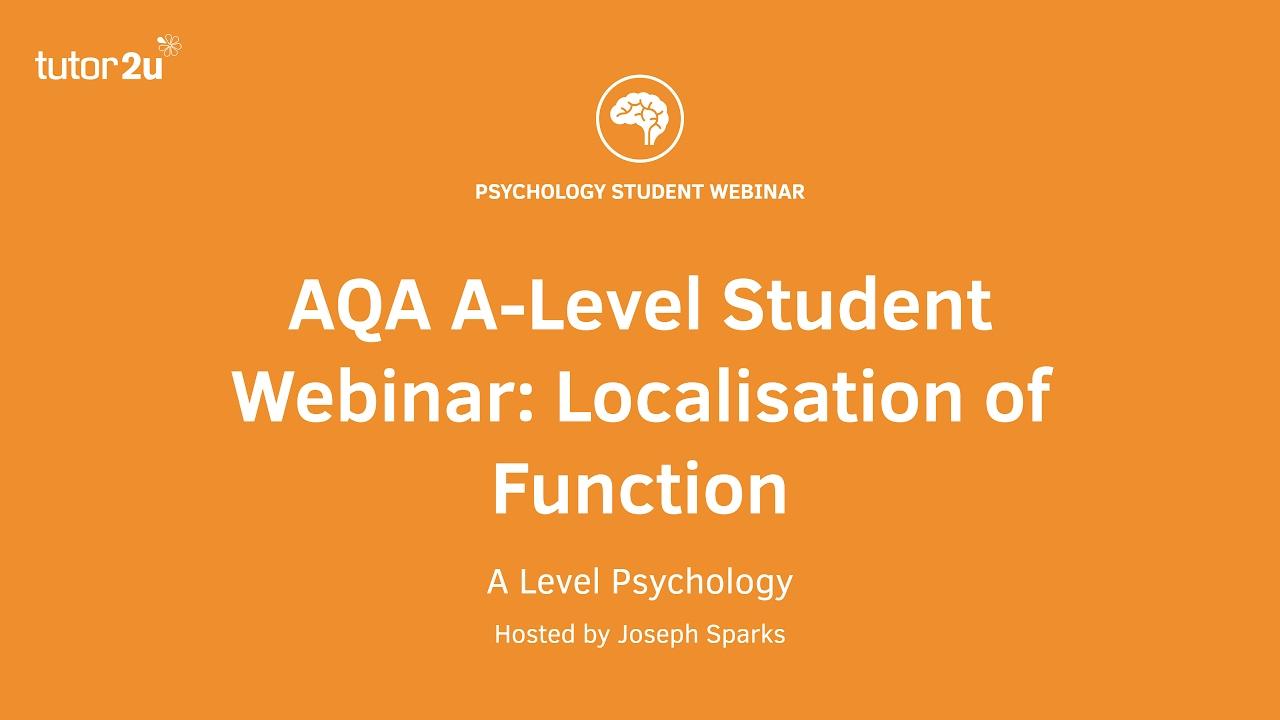 Biopsychology: Evaluating Localisation of… | Psychology
