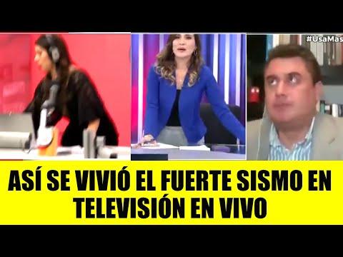"""Del """"mantengan la calma"""" a salir corriendo: así vivieron un terremoto en la televisión de Perú"""