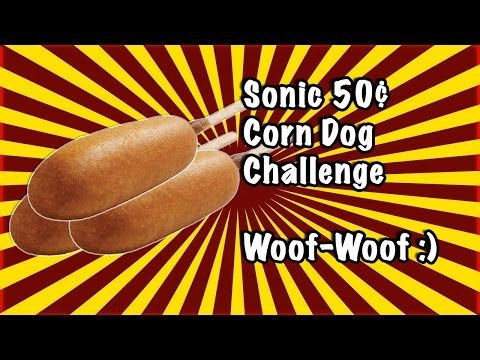 Sonic 50 Cent Corndog Challenge | GiveUsAChallenge
