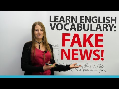 Learn English Vocabulary: FAKE NEWS