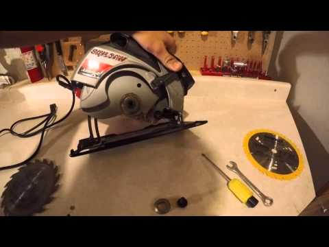 How to change a skill saw blade youtube how to change a skill saw blade greentooth Gallery