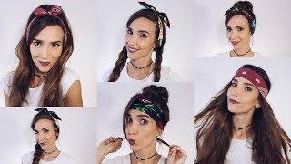 10 ПРИЧЕСОК С БАНДАНОЙ. Как носить БАНДАНУ на голове