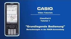 ClassPad II  -  Grundlegende Bedienung