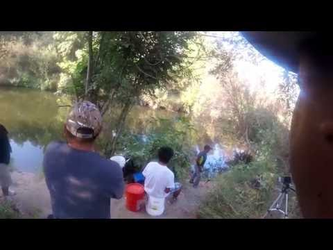 Balboa Park, LA River fishing (8/20/2016) encontrando a los