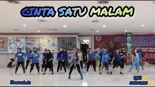 CINTA SATU MALAM  BY MELINDA/SENAM KREASI/ZUMBA/DANCE FITNES/BUNDA DANCE#zinsarahsie