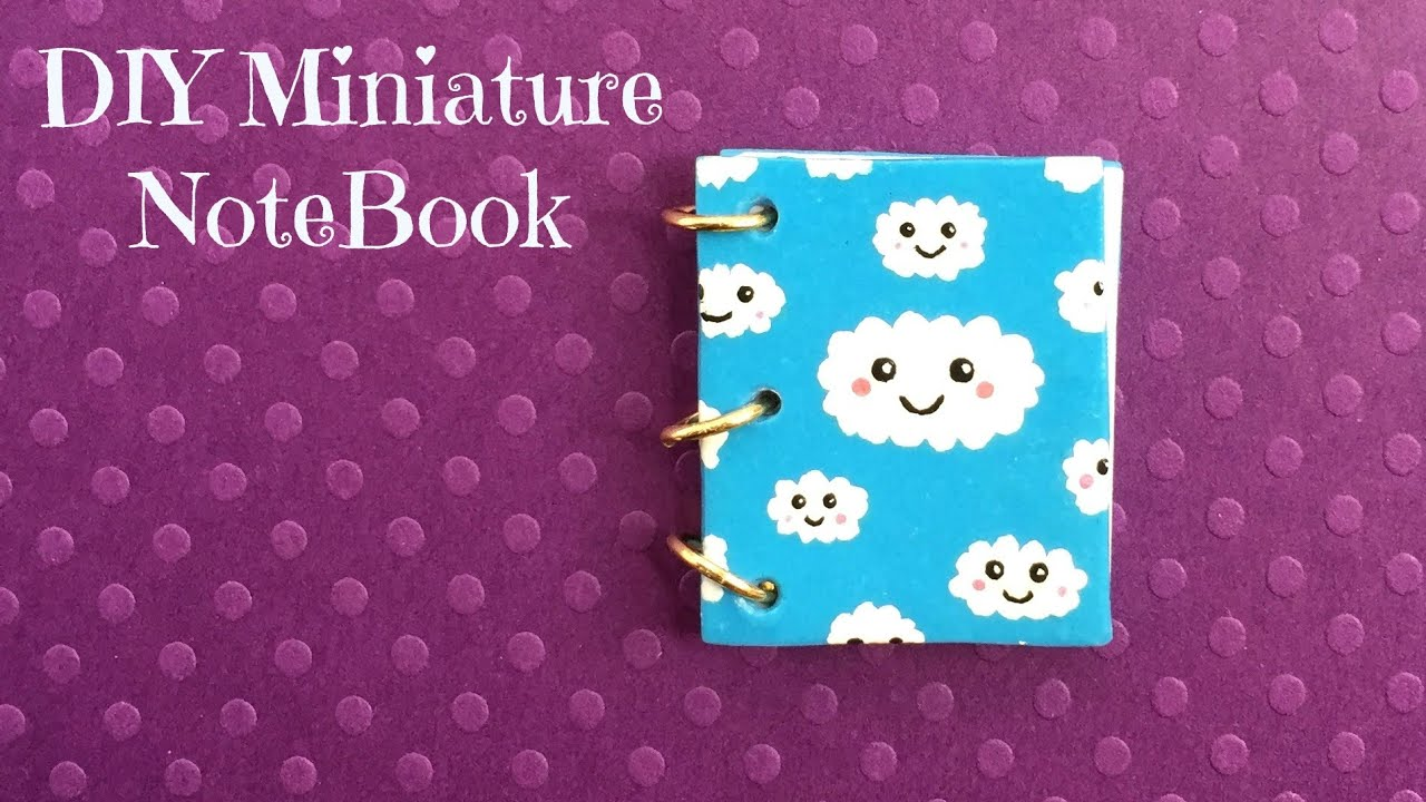 Diy Calendar Nim C : Diy miniature notebook with real pages youtube