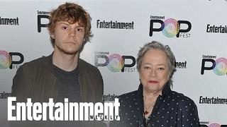 'AHS: Roanoke' Evan Peters & Kathy Bates On Twist & More | PopFest | Entertainment Weekly