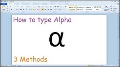 How to type alpha symbol in Microsoft Word