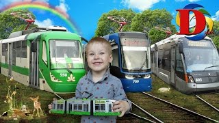 VLOG Катаемся на трамвае Городской трамвай с гармошкой. Dickie Toys City Liner Tram Обзор Игрушки.