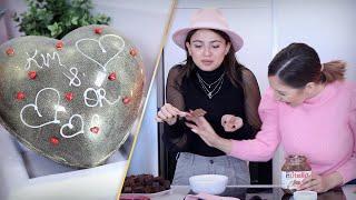 לב ענק משוקולד שמתפוצץ - ומה קרה לקים כשהיא אכלה כף שלמה של נוטלה?!