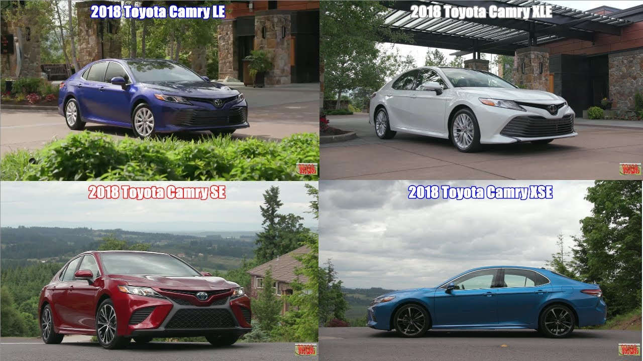 Toyota Camry Trim Levels >> 2018 Toyota Camry Trim Levels Le Se Xle Xse Exterior Drive