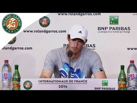 Press conference  A.Murray 2014 French Open SF