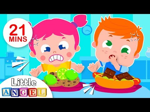 Do you Like Crazy Food?  Fun Songs for Kids & Nursery Rhymes  Little Angel