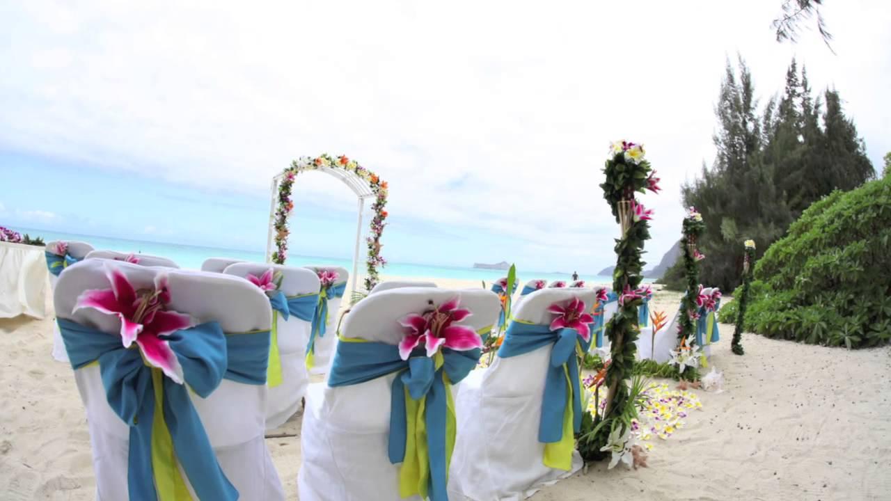 White Ceremony Trellis Arch Aloha Island Weddings