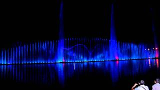 ����������� ������ � �������. Dancing Fountain