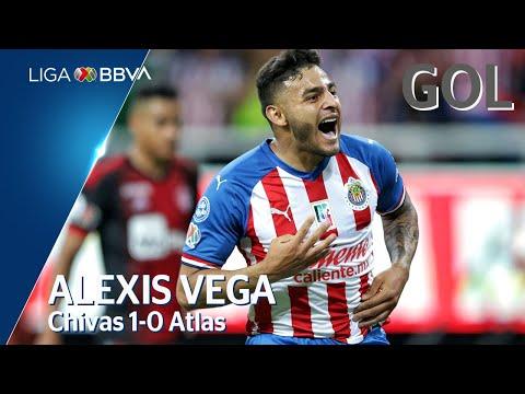 Gol de A. Vega | Guadalajara 1 - 0 Atlas | Liga BBVA MX - Apertura 2019  - Jornada 9