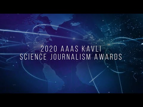 Ceremony for the 2020 AAAS Kavli Science Journalism Award winners