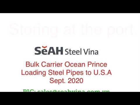 How to ship steel pipe on bulk vessel | #lashing #loading #steelpipe in #bulk vessel. #SeAH
