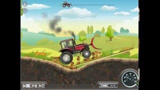 Едет трактор - красный трактор игра для детей