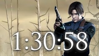 RE4 Speed Run 1:30:58 PS3 HD