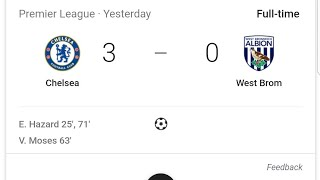 CHELSEA VS WEST BROMWICH ALBION REVIEW AND PLAYER RATINGS!