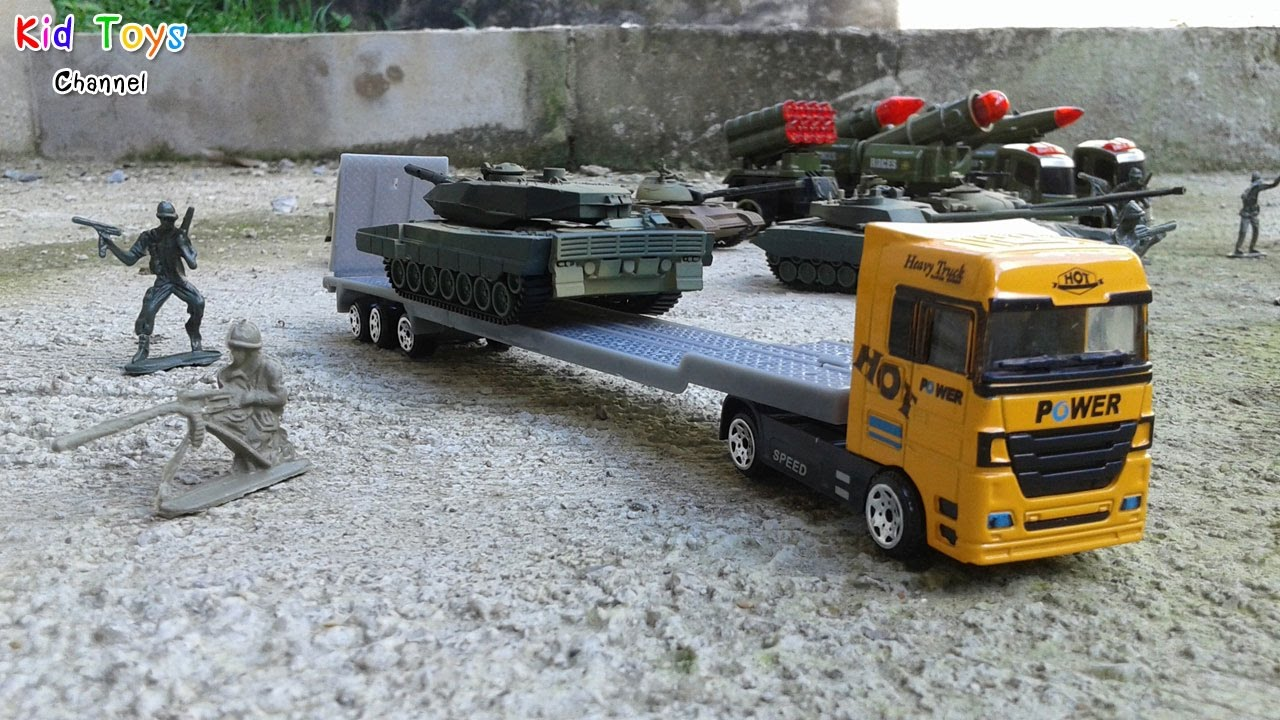 1 64 scale trucks and trailers - Toy Soldiers Die Cast Metal Heavy Truck Trailer Helicopter And Car 1 64 Scale