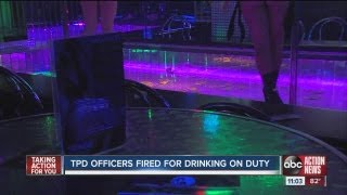 tampa cops caught drinking on duty at a strip club